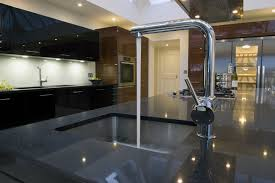 Black Gloss Kitchen Kitchen Island Carts Walnut Contemporary Modern Varnished