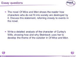 of mice and men section six ppt video online   of mice and men essay questions