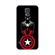Designer Phone Cases For Samsung Galaxy S5 Mangomask Samsung Galaxy S5 Mobile Phone Case Back Cover Custom Printed Designer Series Captain America Black