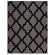 ottomanson glamour collection contemporary moroccan trellis dark gray 5 ft x 7 ft area