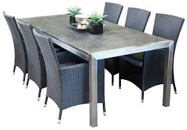 stainless steel outdoor dining sets portman 6 seater hamilton throughout furniture designs 9