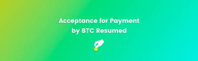 Resumed Delectable Acceptance For Payment By BTC Resumed ATB Coin Good For Business