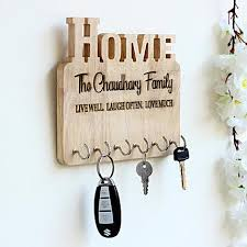 personalised end wooden key holder send personalized gifts