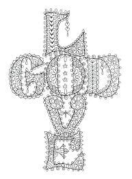 Coloring Pages Cross Instant Download Love God Cross Christian