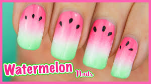 Ombre WATERMELON Nails! ? Fruity Gradient Nail Art Tutorial for ...