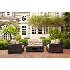 brown jordan northshore patio lounge chair with harvest cushions and regency wren throw pillow stock d6061 l the home depot brown jordan northshore patio furniture