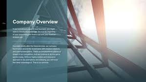 Company Overview Templates Financial Advisor Premium Powerpoint Template Slidestore