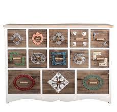 Kommode Vintage Landhausstil Bunt Holz Mit 13 Schubladen