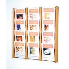 pocket solid wood wall magazine rack  walmartcom