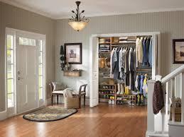 closet organizer ideas. Use Oak Shoes Shelves And Floating Wall In Small Closet Organizer Ideas Near Entry Area