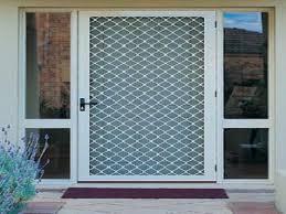 Decorating: Nice Larson Aluminium Retractable Screen Doors Lowes ...