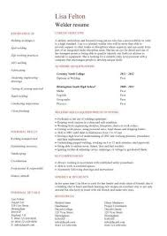 Welder Resume Objective Best Ideas Of Example For Templates About