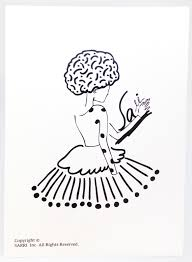 防水ステッカーポストカードタイトル女性の脳イラスト誕生日カードデザインイラストカード愛のアートカー