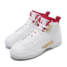 Details About Nike Air Jordan 12 Retro Gs Xii Fiba 2019 White Red Kid Women Shoes 153265 107