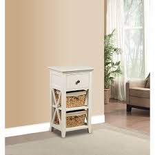 bathroom accent furniture. Basket Bathroom Storage Wood Cabinet In White Accent Furniture O