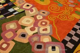 klimt 5ft x 7ft green art nouveau wool rug tapestry hand