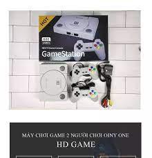 Máy chơi game 4 nút NES 600 trò - Máy chơi game contra - Máy chơi game cổ  điển có tay cầm game (Cổng AV )