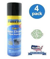 rain x window cleaner 2 in 1 glass cleaner rain repellent oz aerosol rain x foaming