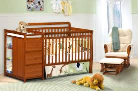 cherry wood crib white graco and changing table