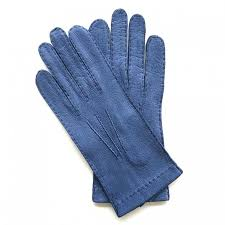 leather gloves of peccary blue joseph