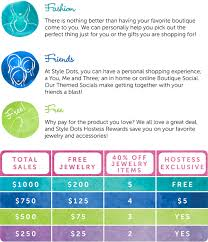 Hostess Sales Chart Host A Boutique Social Style Dots
