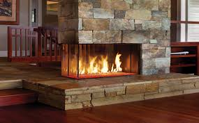 Residential gas fireplace
