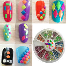 Amazon.com: New8BEauty Nail Art Kit - 3D Rhinestones Colorful and ...