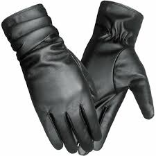 lethmik winter faux leather gloves womens driving touchscreen texting with long for