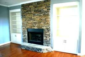 stone fireplace remodel cost large ideas