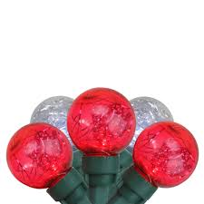Red Globe String Lights Northlight 25ct G30 Wide Angle Led Tinsel Globe String