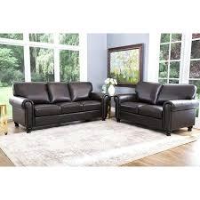 abbyson top grain leather 2 piece living room set braylen recliner sofa melanie floor mirror