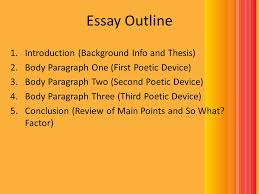 three paragraph essay outline Essay Outline Introduction Background Info and Thesis Body Paragraph One  Essay Outline Introduction Background Info and Thesis Body Paragraph One