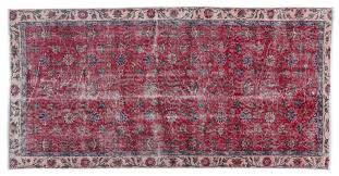 red pink overdyed rug 1960s 1