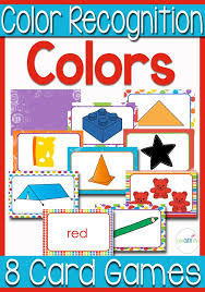 8 Card Games for Color Recognition
