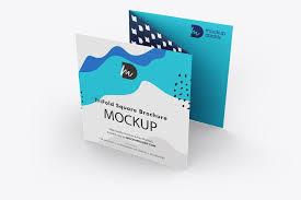 5 photoshop psd files mockup resolution: Trifold Square Brochure Mockup Free Mockup Daddy