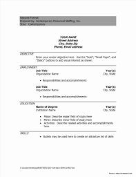 Basic First Job Resume Template Templates Resume Example Templates