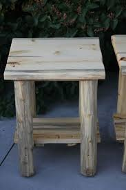 rustic log furniture ideas. rustic log live edge top end table nightstand cabin lodge furnitureu2026 furniture ideas s