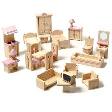 Wooden Dolls House Furniture Sets adairs kids daisy 22 piece