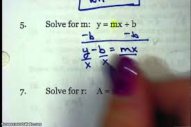 Worksheet 3 8--Solving Literal Equations - YouTube