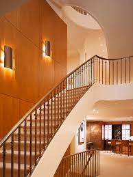 modern stairwell lighting. neoteric staircase design with awesome hidden lighting ideas also wooden wall panel peach modern stairwell l