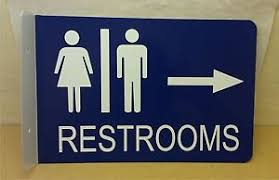 restroom directional sign. Image Is Loading Restroom-2D-Projection-Wall-Mount-Arrow-Right-Directional- Restroom Directional Sign I