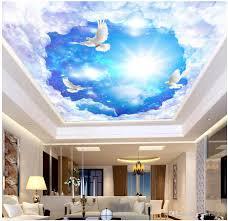 3d Ceiling Design Wallpaper 3d Ceiling Murals Wallpaper Custom Photo On The Wall Dream Star White Pigeon Living Room Home Decor 3d Wall Murals Wallpaper For Walls 3 D Free High
