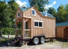 custom tiny house trailer. Trailer 8x16 Custom Tiny House On Wheels With Cross Gable Roofline S