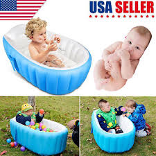 baby infant inflatable bath tub seat mommy helper kid toddler portable bathtub