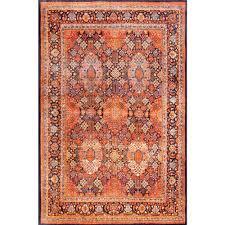 nuloom persian sultanabad tiara orange 5 ft x 8 ft area rug