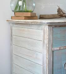 white coastal furniture. Beachy Wood Plank Dresser, Helen Nichole Designs, Milk Paint, White Washed Furniture, Coastal Furniture P