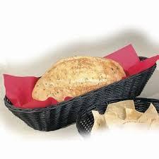 Tablecraft 2418 Loaf Sandwich Bread Serving Baskets Black