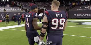 He played college football at the university of wisconsin, and was drafted by the texans in the first round of the 2011 nfl draft. Video Jj Watt Apologizes To Deshaun Watson For Texans Wasting Year Insider