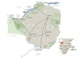 Namibia Distance Chart Nts Distances And Driving Times