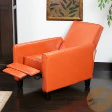 com christopher knight home darvis tan black orange leather recliner club chair orange kitchen dining